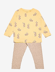 Lindex - Set top and leggings rabbit - 2-delige sets - yellow - 0