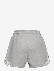 Lindex - Shorts jersey lace - shorts - grey - 1