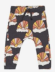 Lindex - Trousers Sun aop - bukser - black - 0