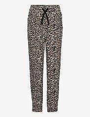 Lindex - Trousers viscose Leo puff - trousers - beige - 0