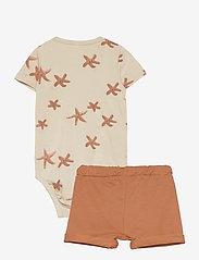Lindex - Set wrap shorts jellyfish star - 2-delte sæt - brown - 1