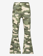 Lindex - Trousers Carmen flares - trousers - green - 0