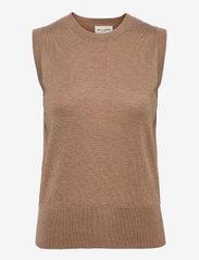 Lindex - Vest Evelina - knitted vests - beige - 0