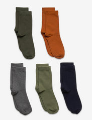 Lindex - Socks 5p BB plain fashion col - skarpetki - orange - 0