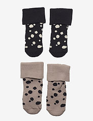 Sock 2p Baby with dots in terr - BEIGE