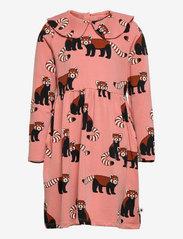 Lindex - Dress Big Collar Red panda aop - kleider - pink - 0