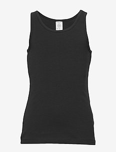 Tank top basic - zonder mouwen - black
