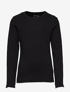 Top rib - long-sleeved t-shirts - black