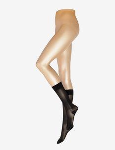 Kneehigh 40den medium support - kniekousen - black