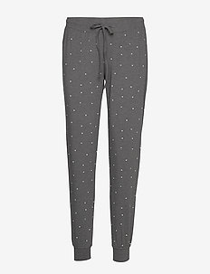 Night Trousers Tea AOP - underdeler - dark grey melange