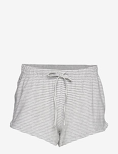 Night Shorts Viola Striped - LIGHT GREY MELANGE