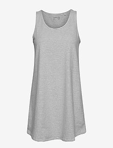 Night Dress Tilda Striped - LIGHT GREY MELANGE