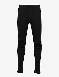 Leggings basic frill knee - leggings - black