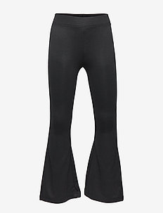 Flared Jersey Trousers - BLACK