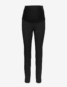 Trousers MOM Jonna - slim fit bukser - black