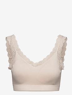Bra soft top Eco modal Emelie - weicher bh - white