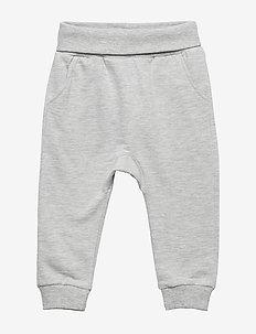 Sweatpants with Fold-down Waist - LIGHT GREY MELANGE