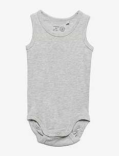 Sleeveless Bodysuit - LIGHT GREY MELANGE