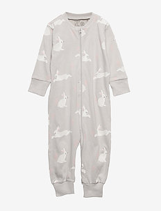 Pyjamas with Rabbits - LIGHT GREY