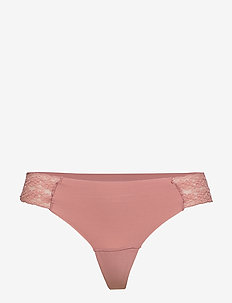 Brief lace Invisible Thong low - DRK DUSTY PINK
