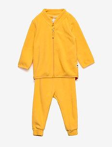 Set fleece jacket and trouser - DARK DUSTY YELLOW