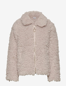 Beige pile jacket - LIGHT BEIGE