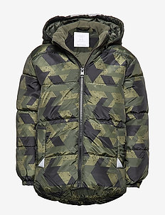 Padded jacket with reflective fabric - DK KHAKI GREEN