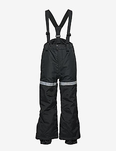 FIX Black ski trousers with braces - BLACK