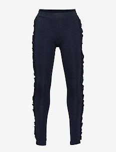 Dark navy leggings with side frill trims - NAVY