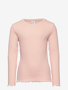 Ribbed long sleeve top - manches longues - dusty pink