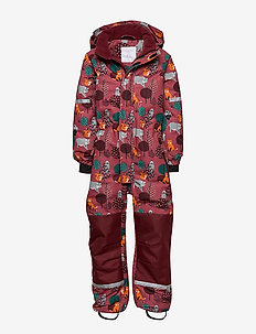 Patterned overall - DARK PINK