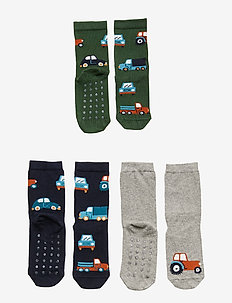 Sock SB 3p  cars and truck  an - GREY MELANGE