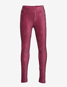 Trousers jeggings cord stretch - DARK PINK