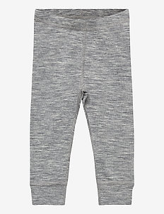 long johns baby merino uni sol - leggings - grey melange