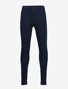 Leggings with brushed inside - leggings - navy