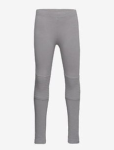 Leggings with brushed inside and reinforced knees - LIGHT GREY