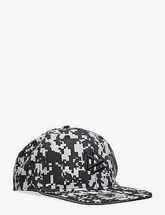 Flat peak cap with reflective print - BLACK