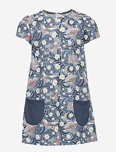 Short sleeve jersey tunic with pockets - LIGHT DUSTY BLUE