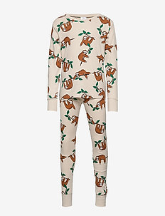 Pajamas SB Sloth aop uni - LIGHT BEIGE