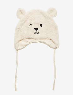 Babycap in pile w ears - LIGHT BEIGE