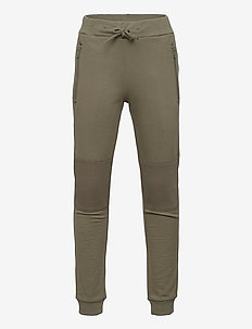 Trousers w mesh - sweatpants - green