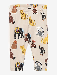 Leggings with monkeys and leopards - LIGHT BEIGE