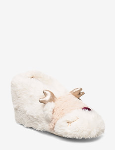 Indoor boot Furry face - hausschuhe - light dusty white