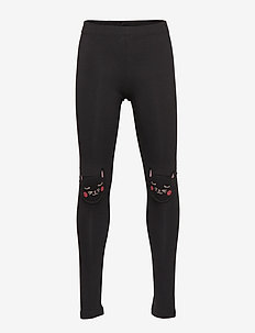 Grey leggings with cat knee patches - OFFBLACK