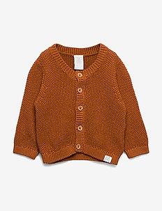 Cardigan moss knit - BROWN