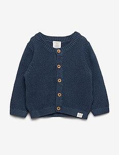 Cardigan moss knit - DK DUSTY BLUE