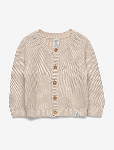 Cardigan moss knit - kardigany - light beige melange