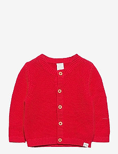 Cardigan moss knit - gilets - red