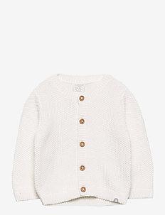 Cardigan moss knit - cardigans - white