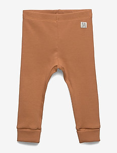 Leggings rib solid - leggings - dusty brown